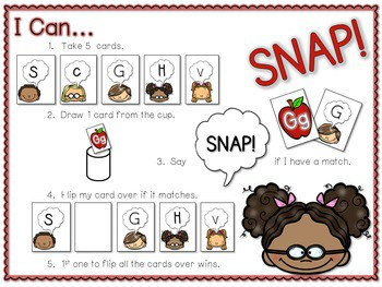 PHONICS ~ SNAP! Letter Identification Phonics Game 2