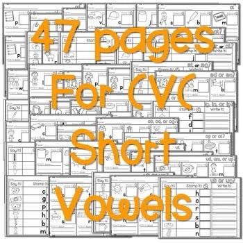 Phonics STAMPING Center ~ CVC Short Sounds! 3