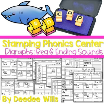 Phonics STAMPING Center ~ Digraphs! 1