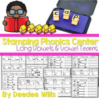 Phonics STAMPING Center ~ Long Vowels and Vowel Teams 1