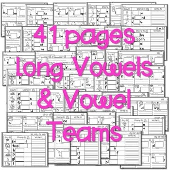 Phonics STAMPING Center ~ Long Vowels and Vowel Teams 3