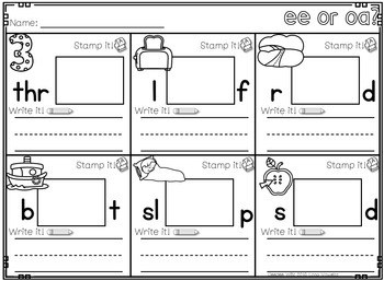 Phonics STAMPING Center ~ Long Vowels and Vowel Teams 4