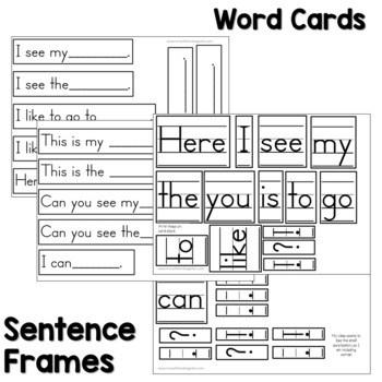 Predictable Sentence | Simple Sentences August & September 3