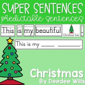 Predictable Sentences | Simple Sentences for Christmas 1