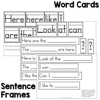 Predictable Sentences   Simple Sentences for Fall 3