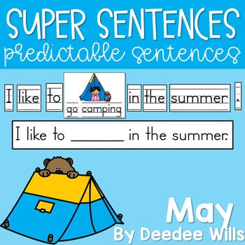 Predictable Sentences | Simple Sentences for May 1