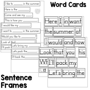 Predictable Sentences | Simple Sentences for May 2