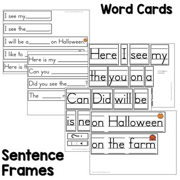 Predictable Sentences | Simple Sentences for October 2
