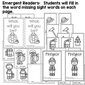 Predictable Sentences | Simple Sentences for October 4