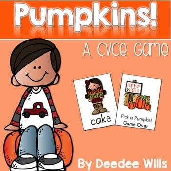 Pumpkin Pie! CVCe Memory Match and Game 1