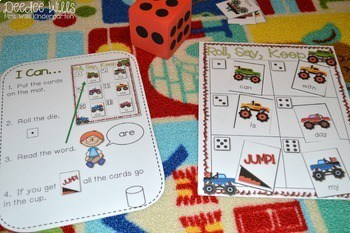 Roll, Say, Keep Editable Sight Word BUNDLE 2