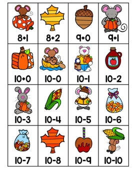 Roll, Say, Keep Math Center Game Fall 3