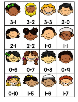 Roll, Say, Keep Math Center Game Friends 4