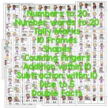 Roll, Say, Keep Math Center Game School 2