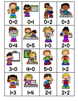 Roll, Say, Keep Math Center Game School 4