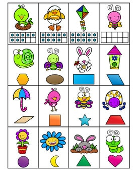 Roll, Say, Keep Math Center Game Spring 3