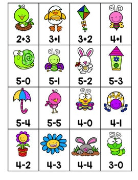 Roll, Say, Keep Math Center Game Spring 4