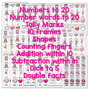 Roll, Say, Keep Math Center Game Valentines Day 2