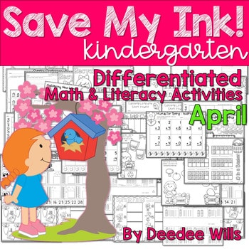 Save My INK: April NO PREP Math and Literacy Activities 1