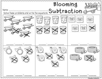Save My INK: April NO PREP Math and Literacy Activities 4