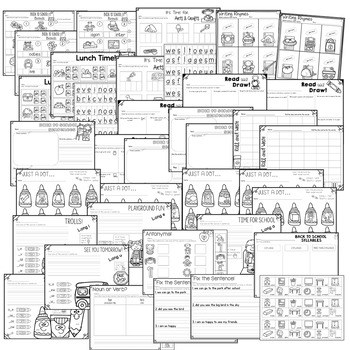 Save My INK: Aug/Sept 1st Grade Math and LiteracyWorksheets 2