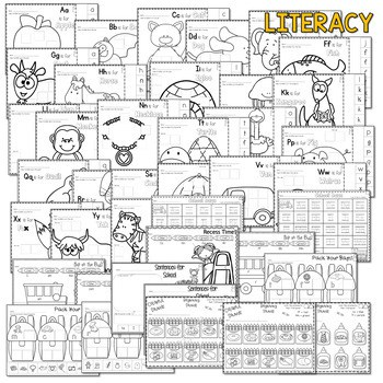Save My INK: Aug/Sept NO PREP Math and Literacy Worksheets 2
