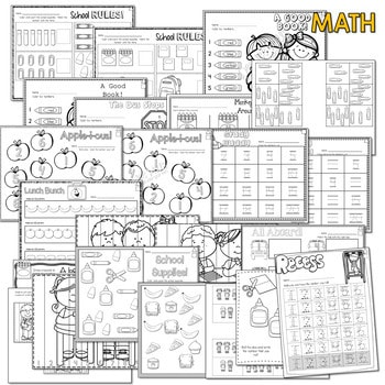 Save My INK: Aug/Sept NO PREP Math and Literacy Worksheets 3