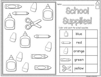 Save My INK: Aug/Sept NO PREP Math and Literacy Worksheets 4