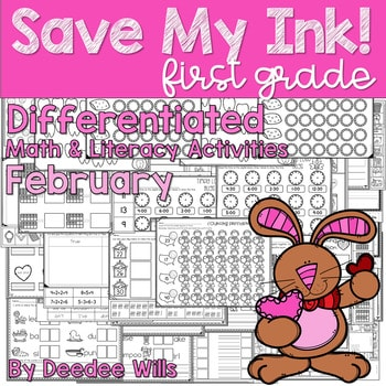 Save My INK: February 1st Grade Math and Literacy Activities 1