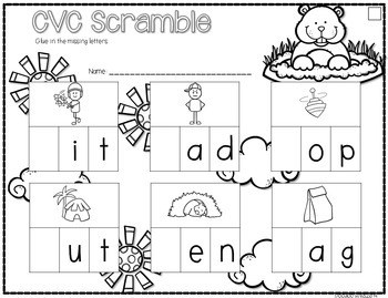 Save My INK: February NO PREP Math and Literacy Activities 3
