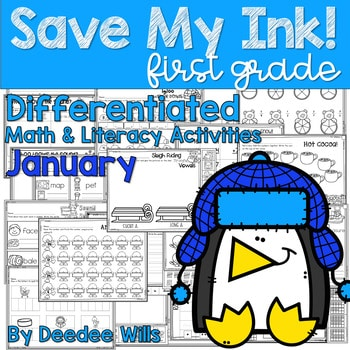 Save My INK: January 1st Grade Math and Literacy Activities 1