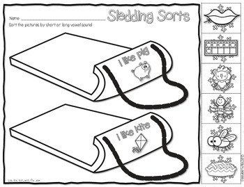 Save My INK: January NO PREP Math and Literacy Worksheets 2