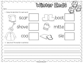 Save My INK: January NO PREP Math and Literacy Worksheets 3