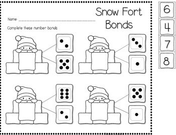 Save My INK: January NO PREP Math and Literacy Worksheets 4