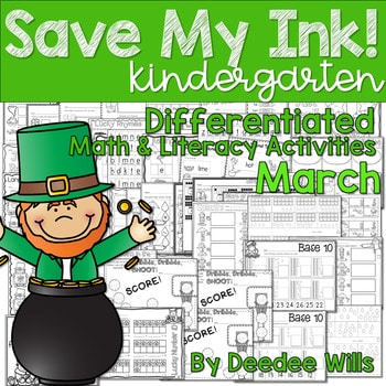 Save My INK: March NO PREP Math and Literacy Activities 1