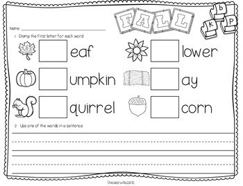 Save My INK: November NO PREP Math and Literacy Activities 2