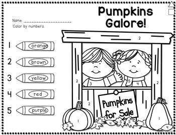 Save My INK: October NO PREP Math and Literacy Worksheets 3