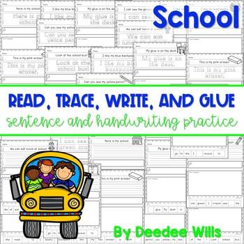 School: Read, Trace, Glue, and Draw 1