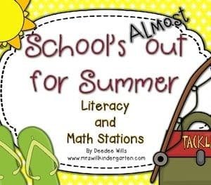 Save My INK: Summer to 1st NO PREP Math and Literacy Worksheets 6