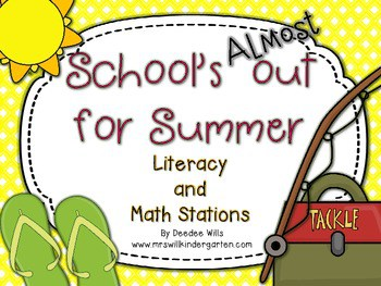 School's Almost Out for Summer! Literacy and Math Stations-CC 1