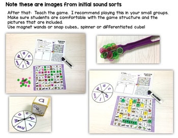 Sequence Game Sets and Sorts for Beginning Sounds 3