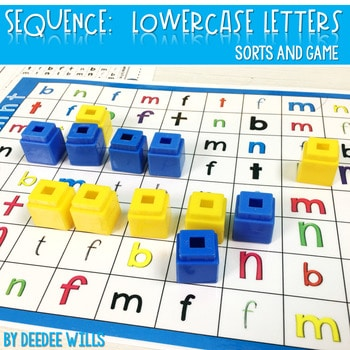 Sequence Game Sets and Sorts for lowercase letters 1