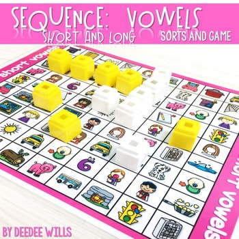 Sequence Game and Sorts VOWELS 1