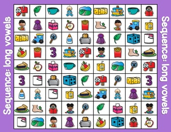 Sequence Game and Sorts VOWELS 3