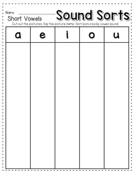 Sequence Game and Sorts VOWELS 4