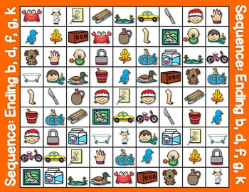 Sequence Game and Sorts for ending sounds 2