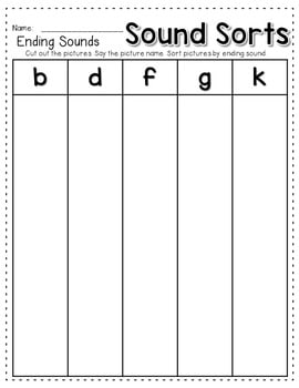 Sequence Game and Sorts for ending sounds 4