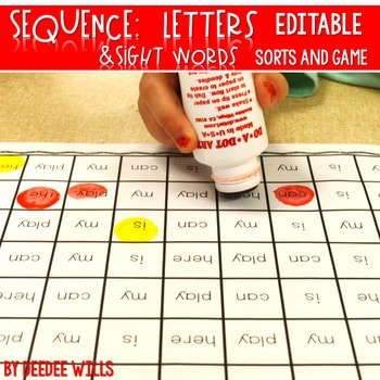 Sequence Printable Pack-initial sounds and sight words-editable 1