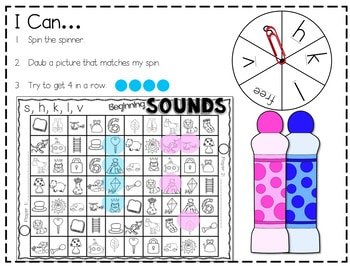 Sequence Printable Pack-initial sounds and sight words-editable 3