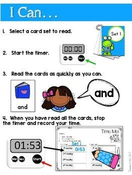 Sight Word Fluency Back to School 3